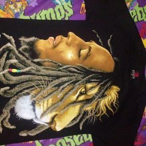 Zion rootswear bob marley shirt